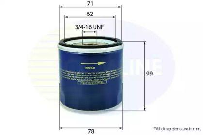 Масляний фільтр на ALFA ROMEO 166 'COMLINE EOF049'.