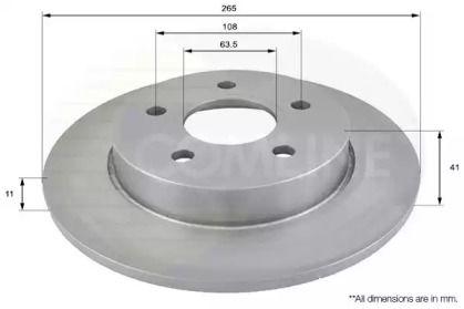 Задний тормозной диск 'COMLINE ADC1228'.