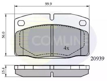 Переднї гальмівні колодки 'COMLINE CBP0135'.
