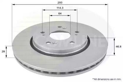 Вентилируемый передний тормозной диск на Хонда Кросстур 'COMLINE ADC0560V'.