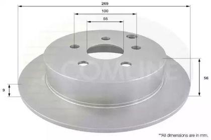 Задний тормозной диск COMLINE ADC01103.