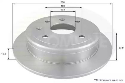 Задний тормозной диск на Дэу Нубира 'COMLINE ADC1079'.