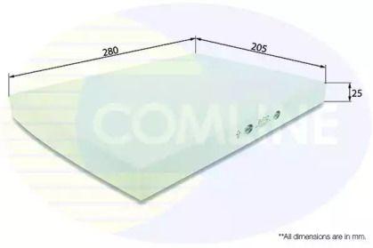 Салонный фильтр на Фольксваген Гольф 'COMLINE EKF112'.