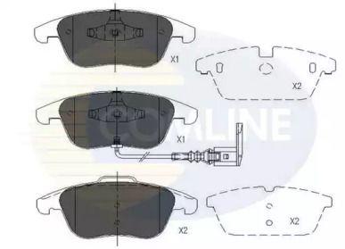 Переднї гальмівні колодки COMLINE CBP16022.