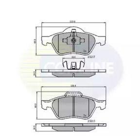 Переднї гальмівні колодки 'COMLINE CBP01115'.