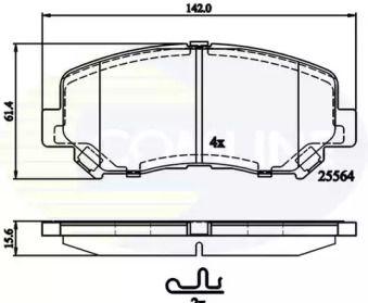 Переднї гальмівні колодки на MAZDA CX-5 COMLINE CBP32252.