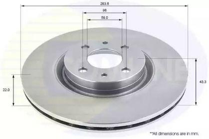 Вентилируемый передний тормозной диск на Лянча Либра 'COMLINE ADC1811V'.
