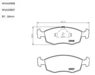 Переднї гальмівні колодки 'AUTOMOTOR FRANCE ABP1360'.