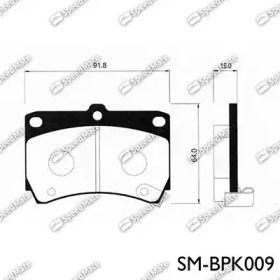 Переднї гальмівні колодки на Мазда Деміо SPEEDMATE SM-BPK009.