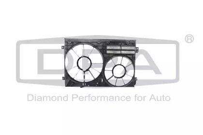 Вентилятор охлаждения радиатора на Шкода Октавия А5 'DPA 11210808502'.