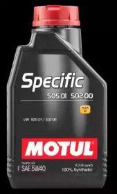 Моторное масло SPECIFIC 505.01 - 502.00 5W-40 1 л 'MOTUL 101573'.