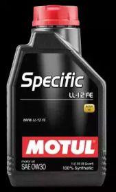 Моторное масло SPECIFIC LL-12 FE 0W-30 1 л 'MOTUL 107301'.