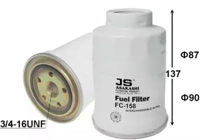 Топливный фильтр ASAKASHI FC158J.