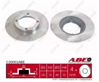Тормозной диск 'ABE C30001ABE'.