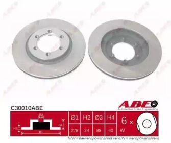 Вентилируемый тормозной диск на Санг Йонг Корандо 'ABE C30010ABE'.