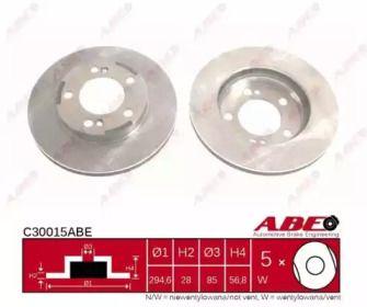 Вентилируемый тормозной диск на Санг Йонг Рекстон 'ABE C30015ABE'.