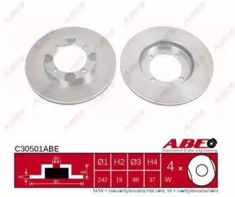 Вентилируемый тормозной диск на Хендай Лантра 'ABE C30501ABE'.