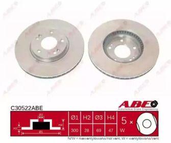 Тормозной диск на Киа Оптима 'ABE C30522ABE'.
