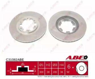 Вентилируемый тормозной диск на Инфинити Ку икс 4 'ABE C31082ABE'.