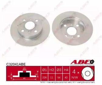 Тормозной диск на Тайота Старлет 'ABE C32041ABE'.