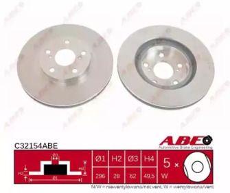 Вентилируемый тормозной диск на LEXUS ES 'ABE C32154ABE'.