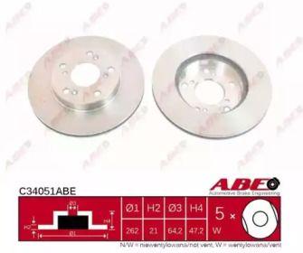 Передний тормозной диск на Хонда ЦРЗ 'ABE C34051ABE'.