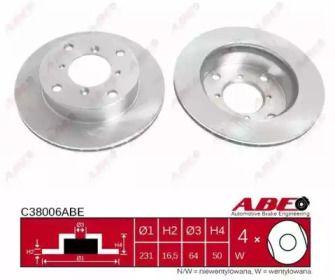 Вентилируемый тормозной диск на Сузуки Альто 'ABE C38006ABE'.