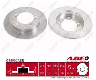 Тормозной диск на Сузуки Самурай 'ABE C38007ABE'.