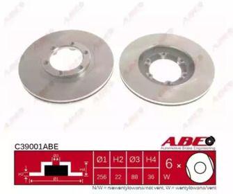 Вентилируемый тормозной диск на ISUZU GEMINI 'ABE C39001ABE'.