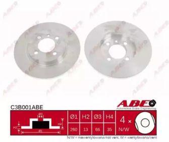Тормозной диск на БМВ 3 'ABE C3B001ABE'.