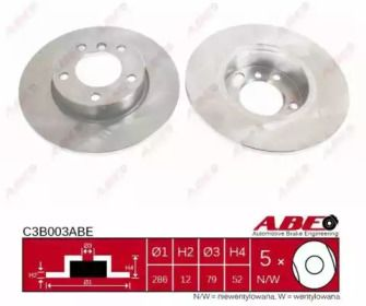 Тормозной диск на БМВ З3 'ABE C3B003ABE'.