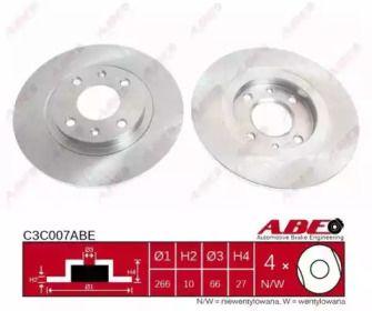 Тормозной диск на Ситроен БХ 'ABE C3C007ABE'.