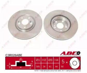 Вентилируемый тормозной диск на Рено Авантайм 'ABE C3R028ABE'.