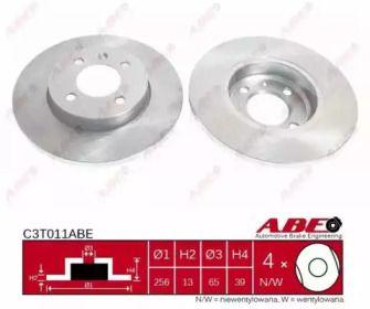 Передний тормозной диск на Сеат Инка 'ABE C3T011ABE'.
