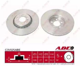 Тормозной диск на Вольво ХС90 'ABE C3V025ABE'.