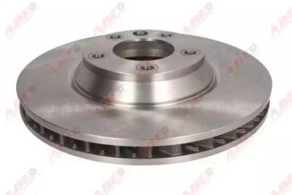 Вентилируемый тормозной диск на PORSCHE CAYENNE 'ABE C3W054ABE'.