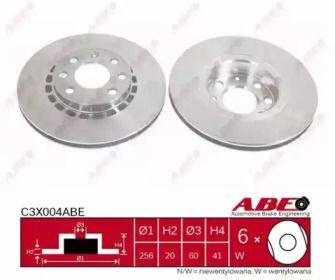 Вентилируемый тормозной диск на Опель Тигра 'ABE C3X004ABE'.