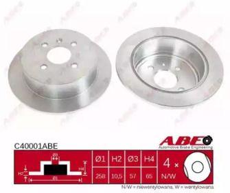 Тормозной диск на Дэу Нубира 'ABE C40001ABE'.