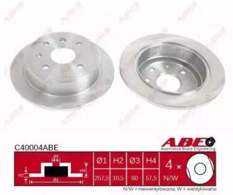 Тормозной диск ABE C40004ABE.