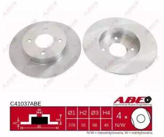 Тормозной диск на Ниссан Примера 'ABE C41037ABE'.