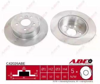 Тормозной диск на Лексус ЕС 'ABE C42026ABE'.