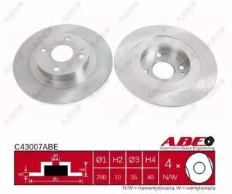 Тормозной диск на MAZDA 323 'ABE C43007ABE'.