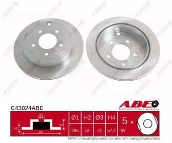 Вентильований гальмівний диск на MAZDA MPV ABE C43024ABE.