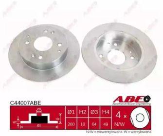 Тормозной диск на Хонда Аккорд 'ABE C44007ABE'.