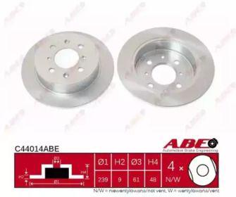 Тормозной диск на ACURA INTEGRA 'ABE C44014ABE'.