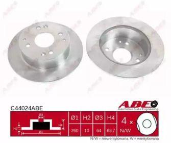 Тормозной диск на HONDA ACCORD 'ABE C44024ABE'.