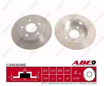 Тормозной диск на Хонда Аккорд 'ABE C44030ABE'.