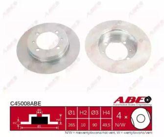 Тормозной диск на Митсубиси Галант 'ABE C45008ABE'.