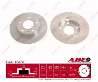 Тормозной диск на Ауди A4 'ABE C4A016ABE'.