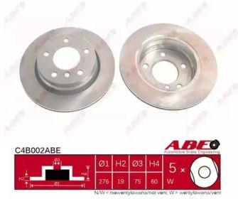 Вентилируемый тормозной диск на БМВ 3 'ABE C4B002ABE'.